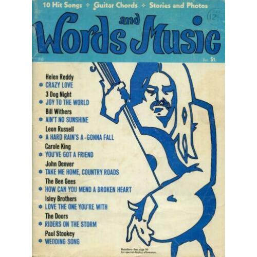 Words and Music - 10 Hits songs, Guitar Chords, Stories and